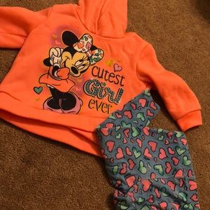 Peach/corral Minnie Mouse outfit